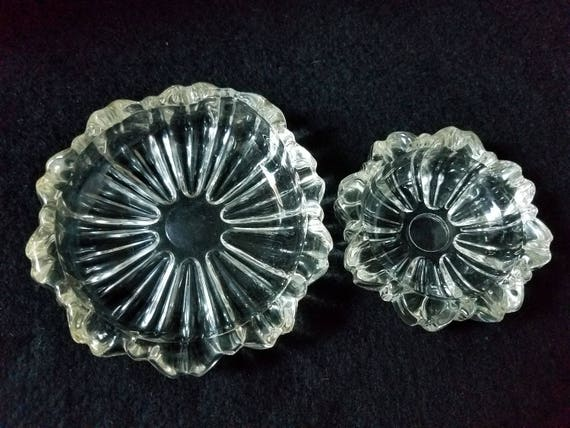 Nesting Hazel AtlasGlass Ashtrays