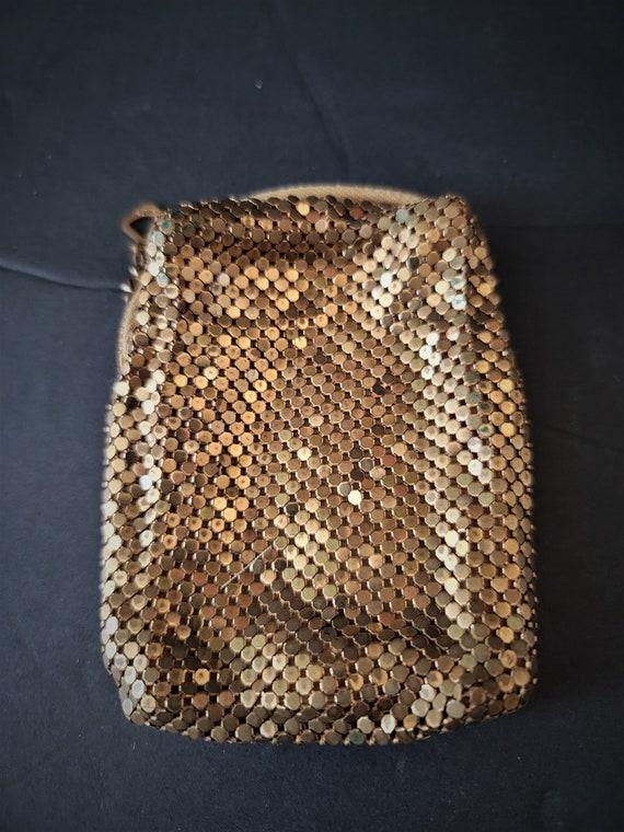 Whiting Davis Gold Mesh Short  Cigarette Case