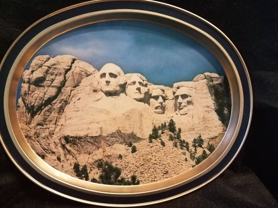 1960s Mount Rushmore Metal Tray