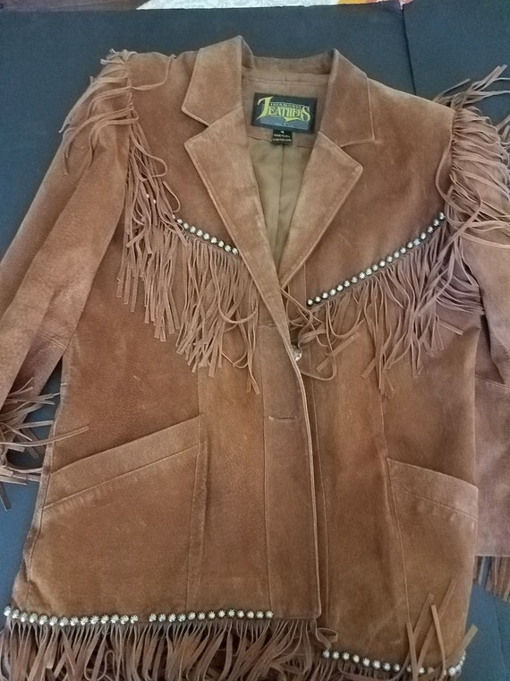 Diamond Leather Vintage Fringe Jacket