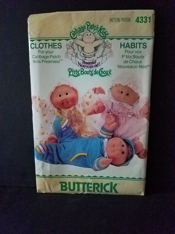 Cabbage Patch Kids Preemie Clothes Pattern