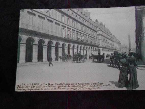 Postcard/1907/ Paris/ Antique/ Stamps