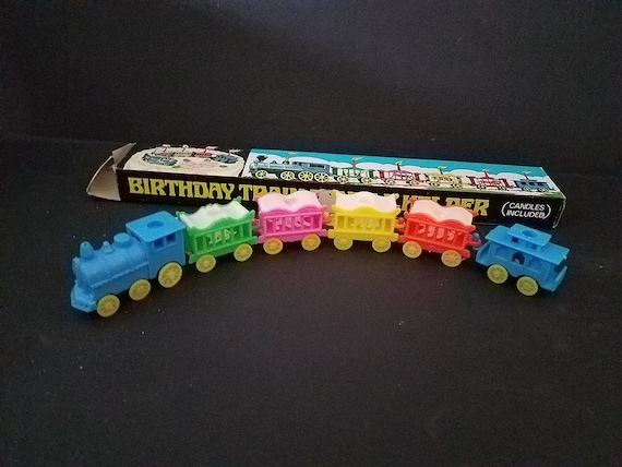 Vintage Birthday Train Candle Holders