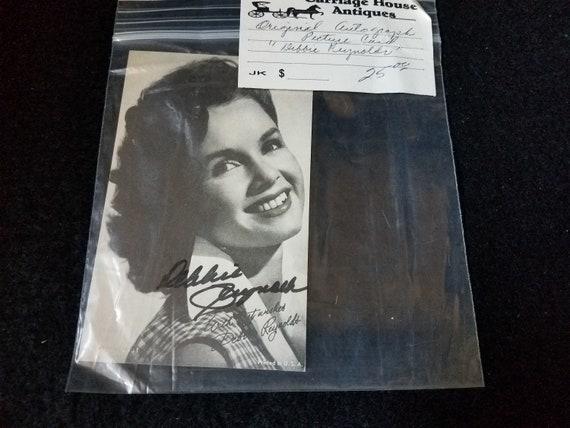 Debbie Reynolds Autographed Picture