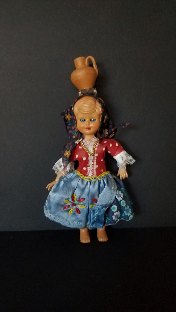 1950s Portuguese Sleepy Eye Doll