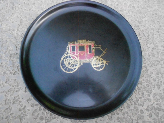 Tray/ Couroc/ Stagecoach/ Vintage 1960s/Phenolic Fused