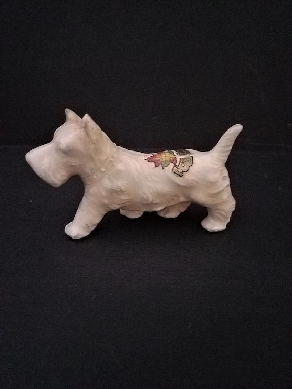 Early 1900s Ceramic Souvenir Scottie Dog