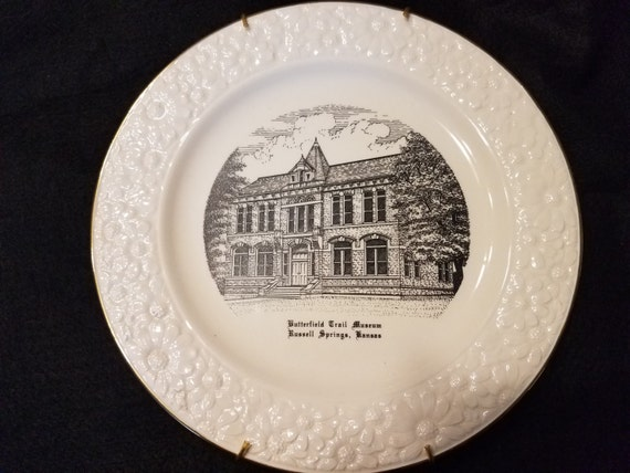 Russell Springs Kansas Commemorative Plate