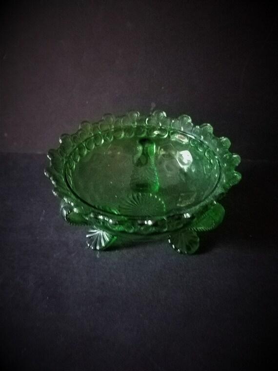 Green Glass Mint Dish