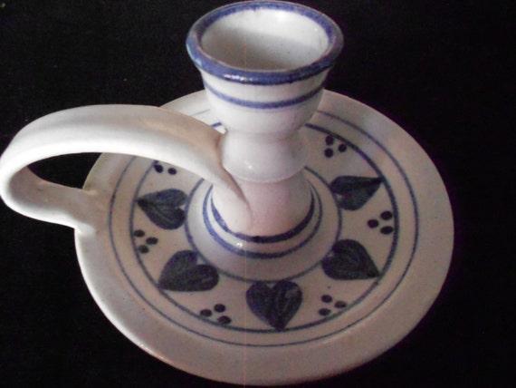 60s vintage Pottery Candle Holder