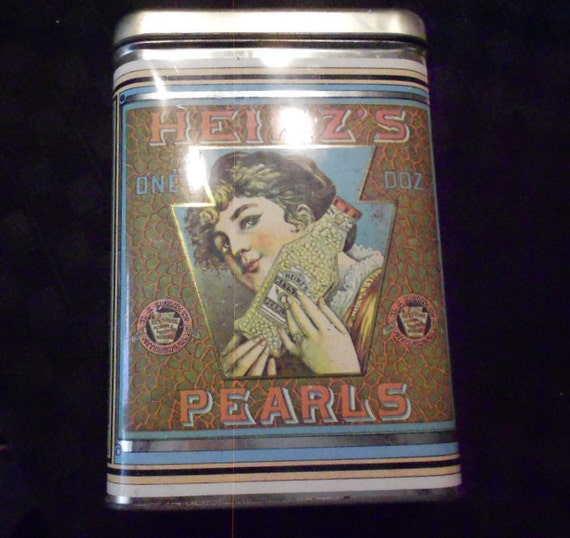 Tin/ Vintage/ Heinz Pickling Pearls/ 1960s