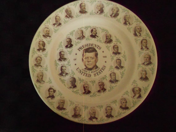 1962 Presidents of the US Collector Plate