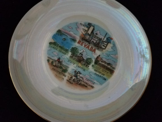 Mid Century Nevada State Souvenir Plate