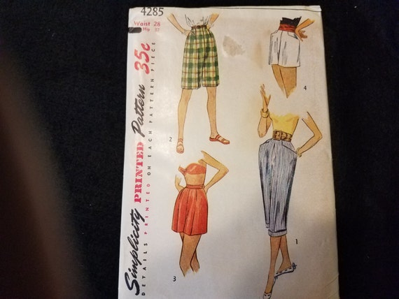 Simplicity/Vintage/Pattern/Pedal Pushers/Sewing