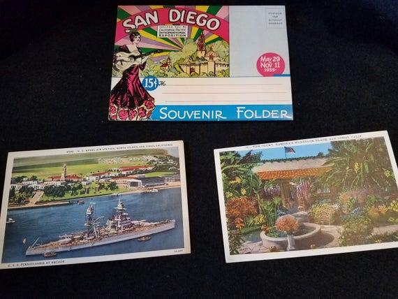 San Diego/Souvenir Folder/Postcards/Vintage/International Expo