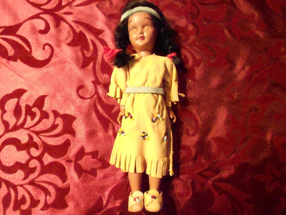 Carlson Sleepy Eye Doll American Indian in Buckskin