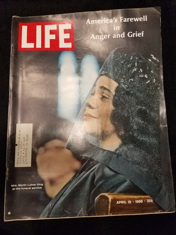 Life Magazine Martin Luther King Funeral April 1968