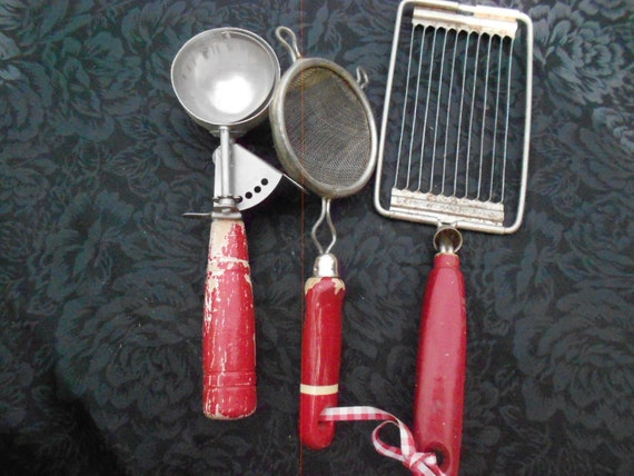 Red Handled Kitchen Tools