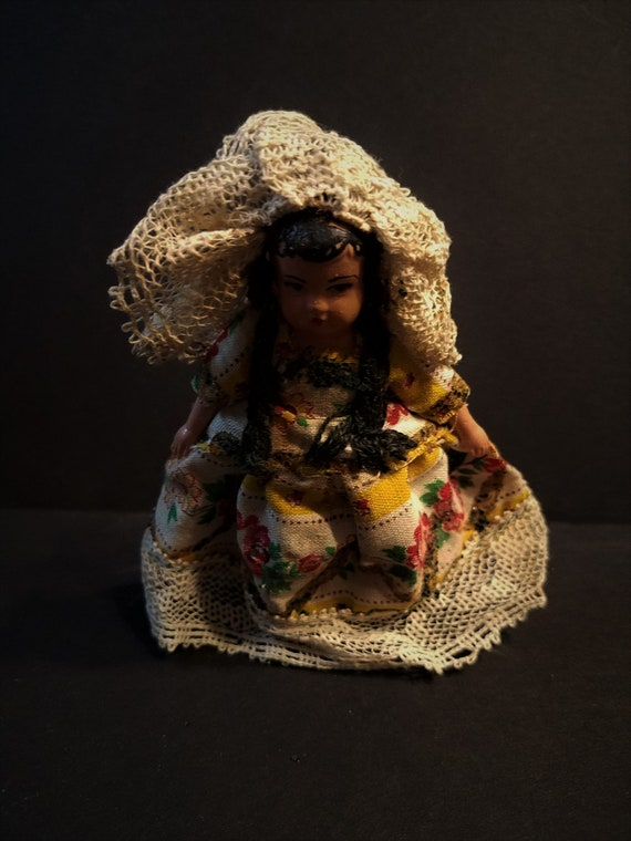 Celluloid Portuguese Girl Doll