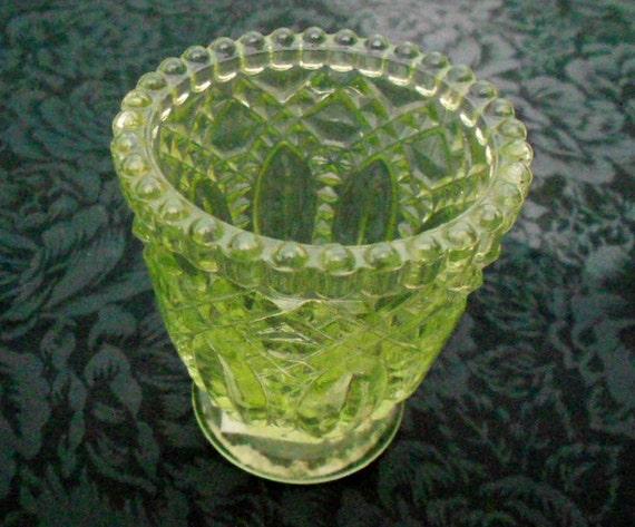 Spring Green Depression Glass Vase