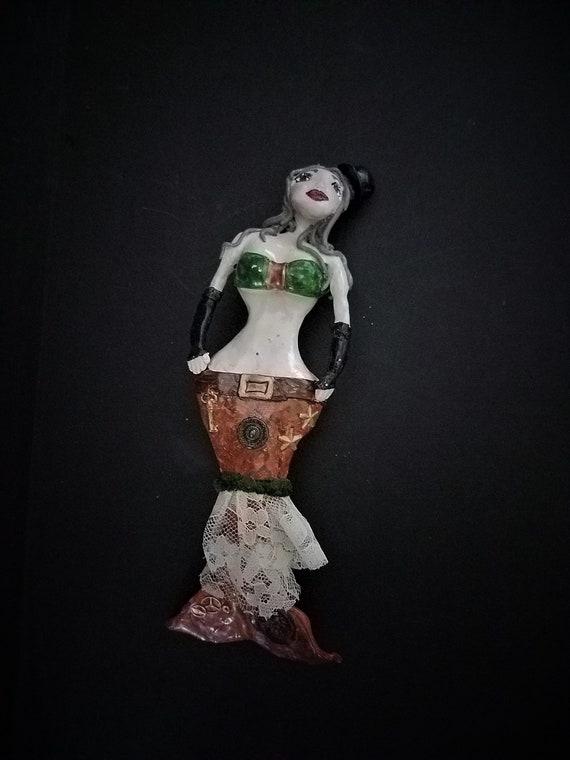 Steampunk Mermaid Hanging Sculpture