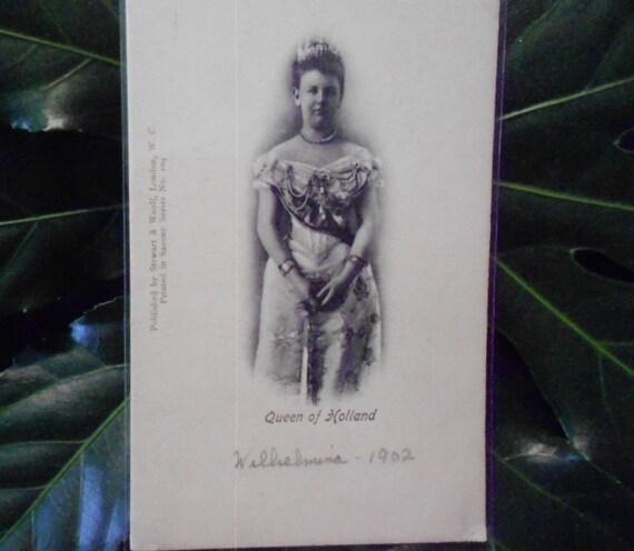 1902 Postcard of Wilhelmina Queen of Holland Unused