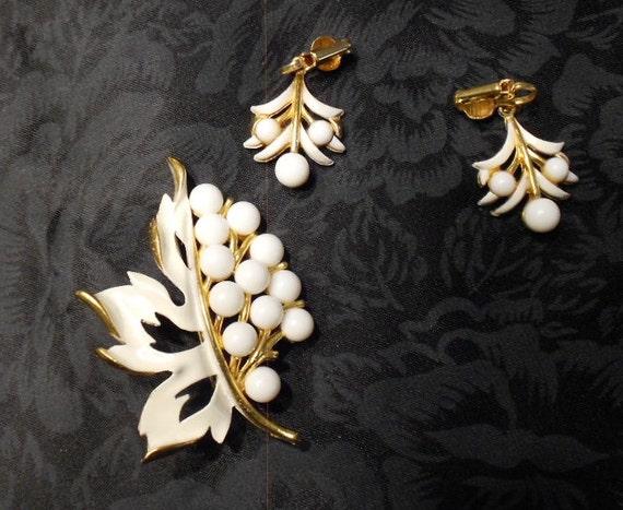 Rapallu Brooch & Earrings 1950s
