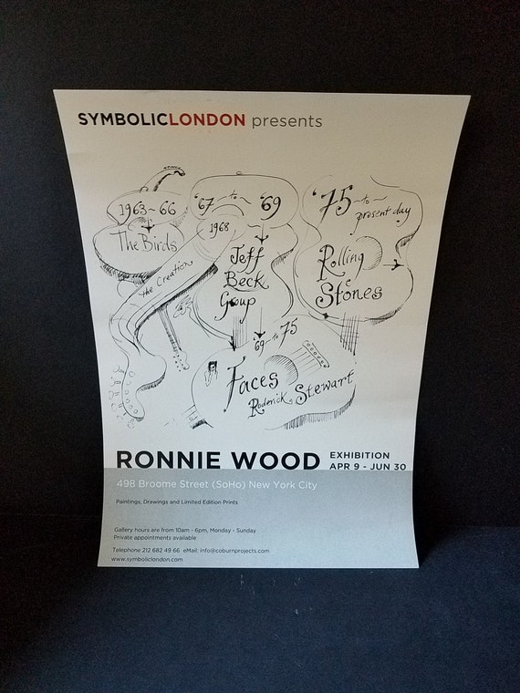 Ronnie Wood Soho Exhibition Poster 2012