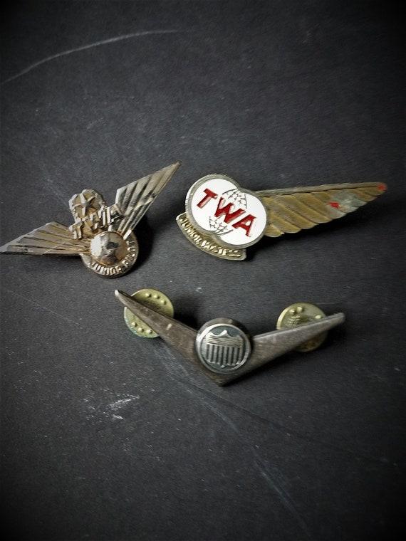 Vintage TWA & Railroad Pins
