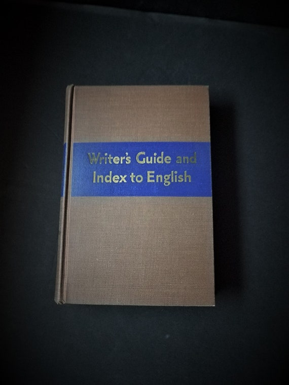 1942 Writer's Guide and Index to English