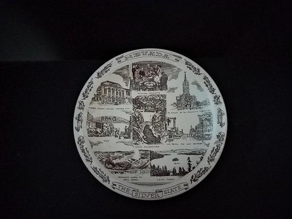Vernon Kilns Nevada State Plate