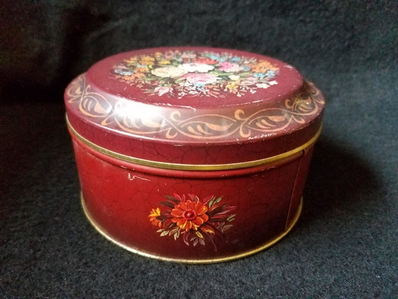 Barringer Wallis and Manners Tin with Roses & Peonies