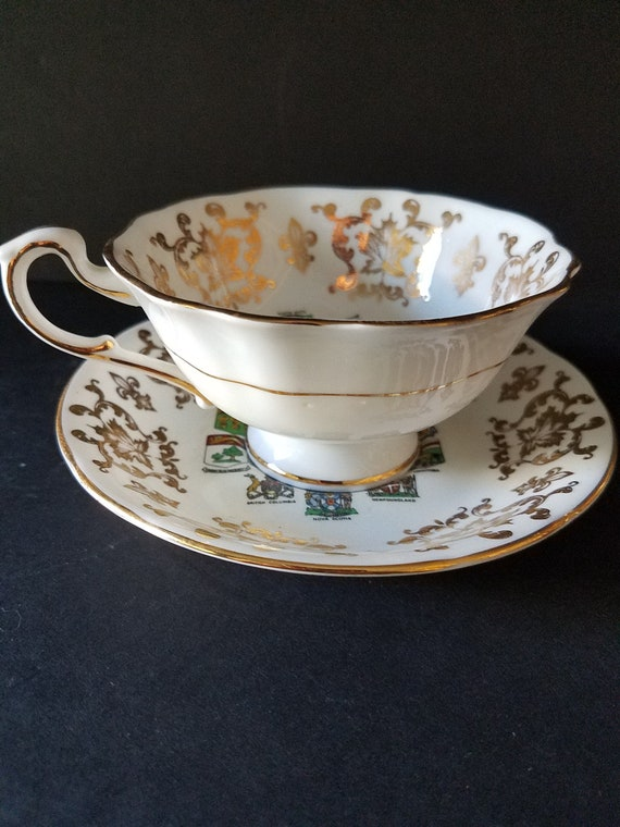 1960s Canada Coat of Arms Tea Cup and Saucer