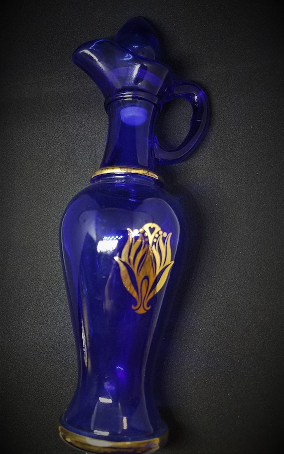 Avon Cobalt Skin So Soft Vintage Decanter