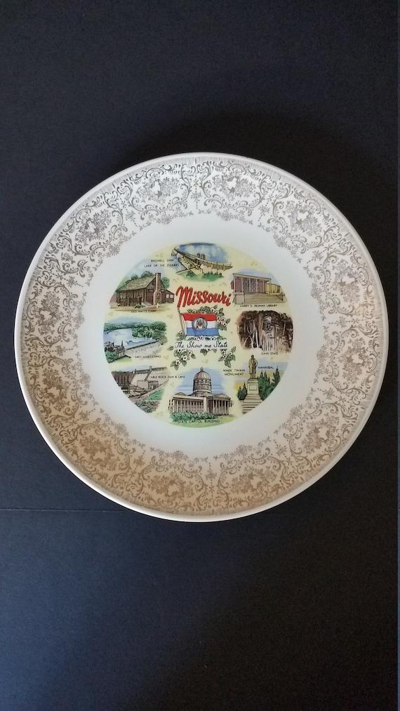 1970 Homer Laughlin Missouri Souvenir Plate