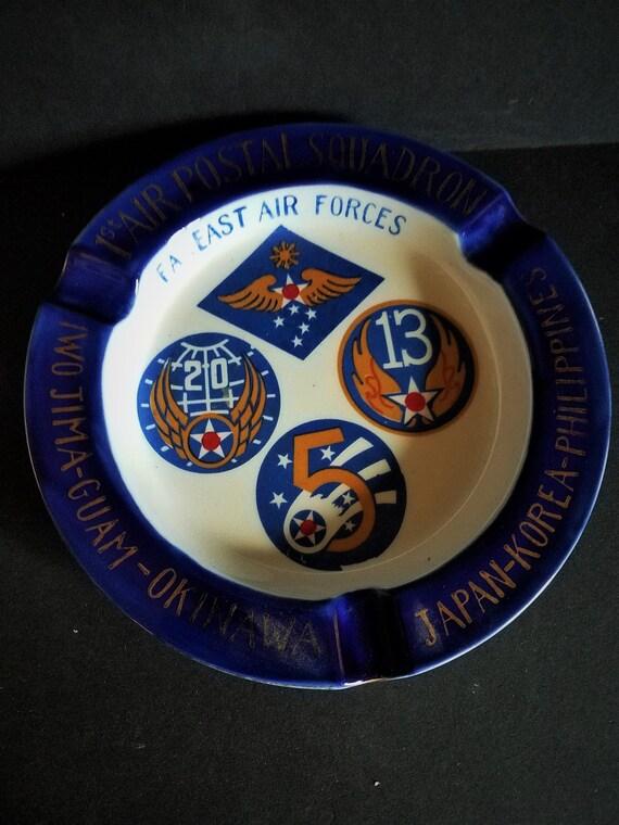 Far East Air Forces Korean War Era Ashtray Postal Squadron