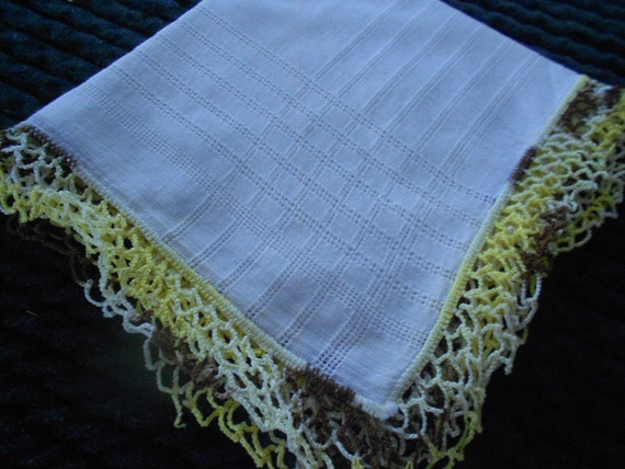 Vintage Tatted Lace Trimmed Hankerchiefs