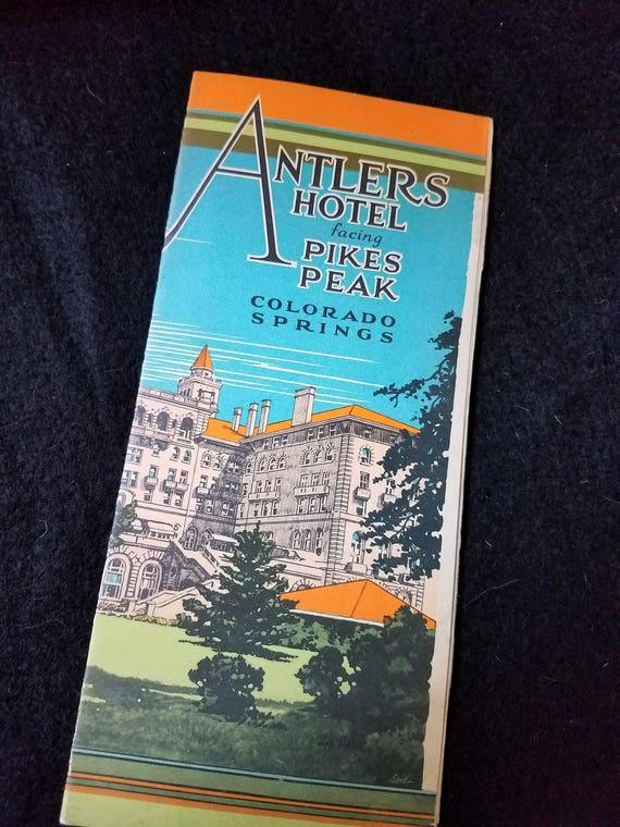 Antlers Hotel/Colorado Springs/1920s/Travel Brochure