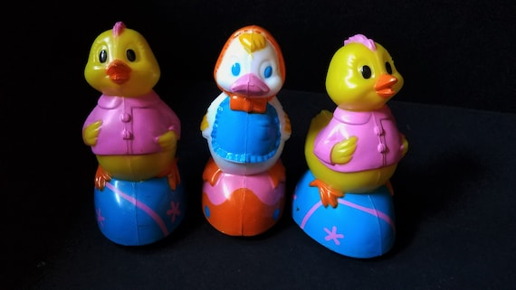 Easter Friction Toys 1970s
