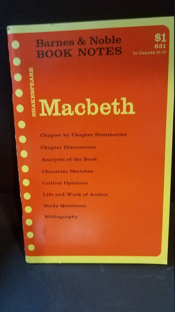 B & N Macbeth Book Notes1967