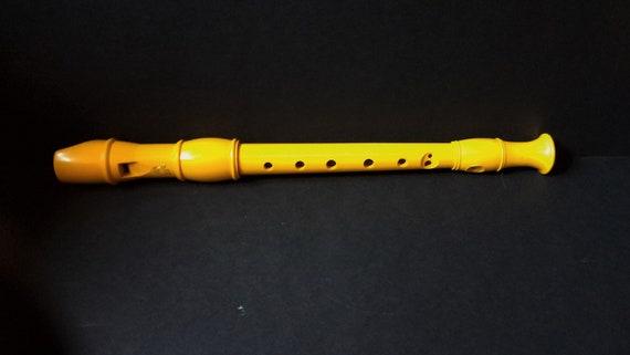 Vintage Yellow Koki Recorder