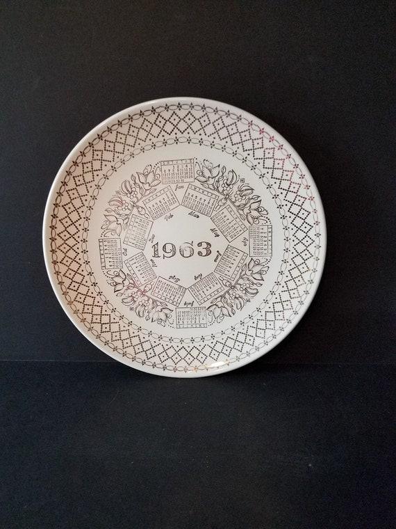 Calendar Plate 1963