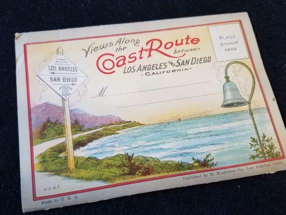 1920s California Coast Route picture folder
