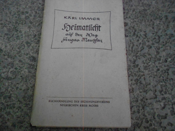 "Book by Karl Immer ""Heimatlicht"" ""Home Light"""