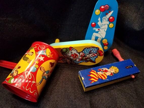 1930s Tin Noisemaker Toys