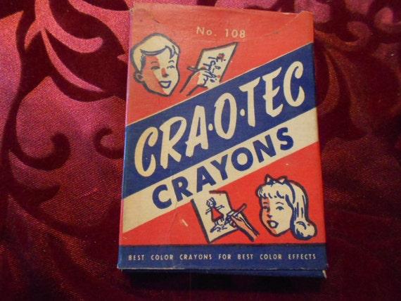 Crayons/ Vintage/ Sargent Hexagons/ Mid Century