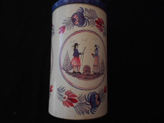 Massilly France Cookie Tin Henriot Quimper
