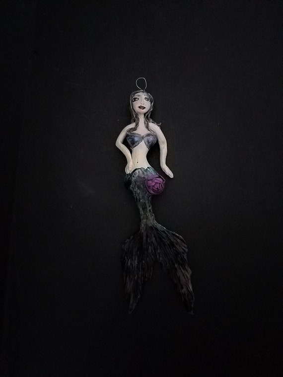 Elegant Hanging Mermaid Sculpture