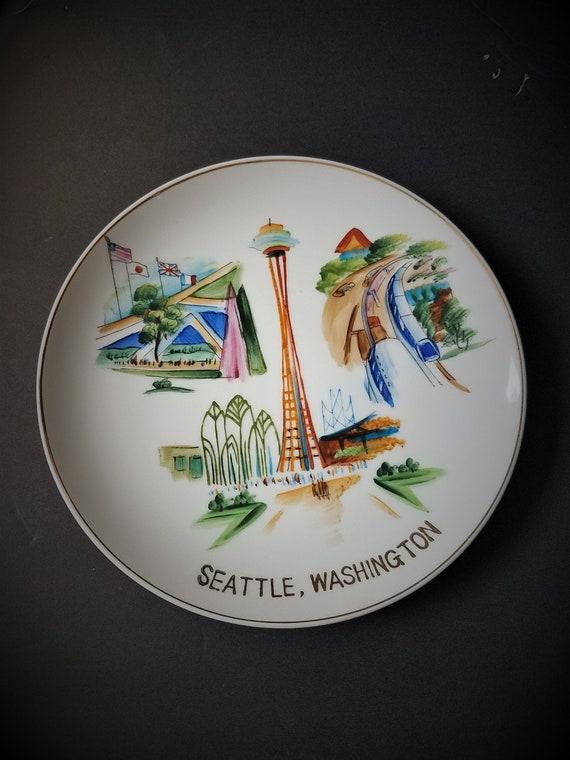 1960s Seattle Washington Souvenir Plate