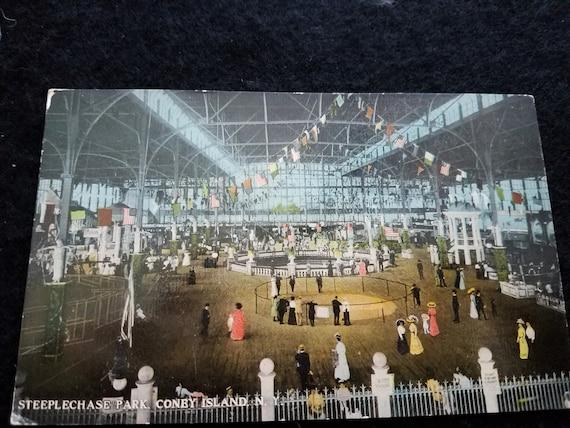 1900's Steeplechase Park Coney Island Postcard